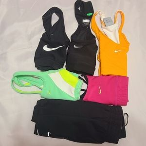 Womens XS NIKE SPORTS BRA/ SHORTS LOT